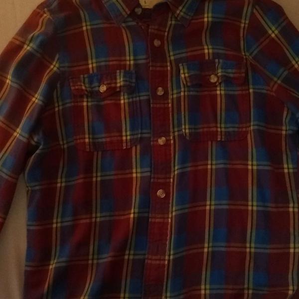 Camisa flanela abercrombie fitch