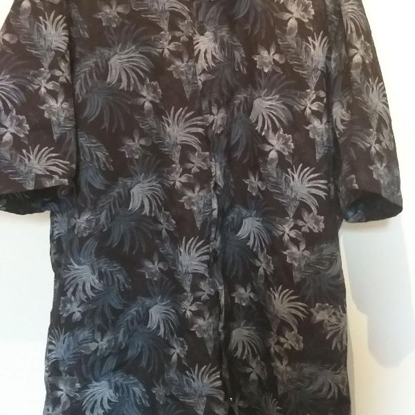 Camisa praia com estampa