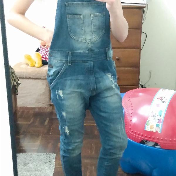 Macacão jardineira masculino jeans original