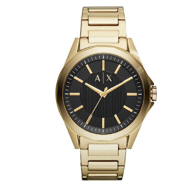 Relógio armani exchange masculino drexler dourado