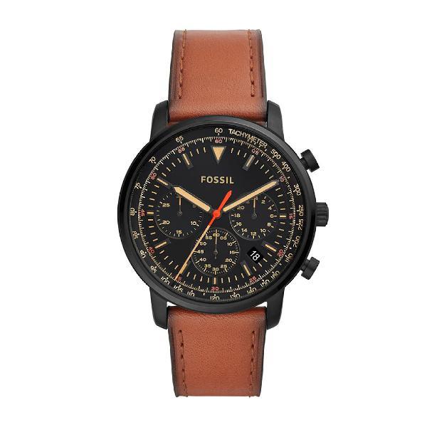 Relógio fossil masculino goodwin chrono preto fs5501/0pn