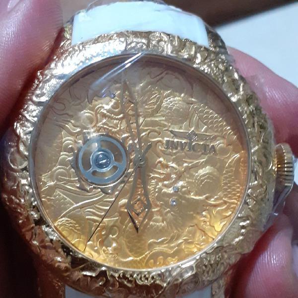 Relógio automático yakuza dragon s2 gold
