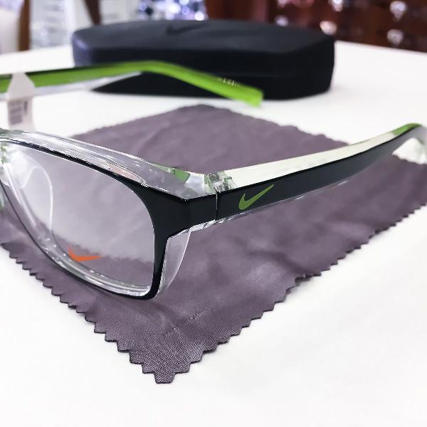 Armação óculos nike 7065 020 acetato preto e verde