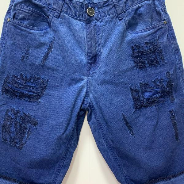 Bermuda jeans azul destroyed da m.officer