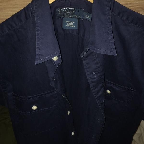 Camisa manga curta polo ralph lauren nova