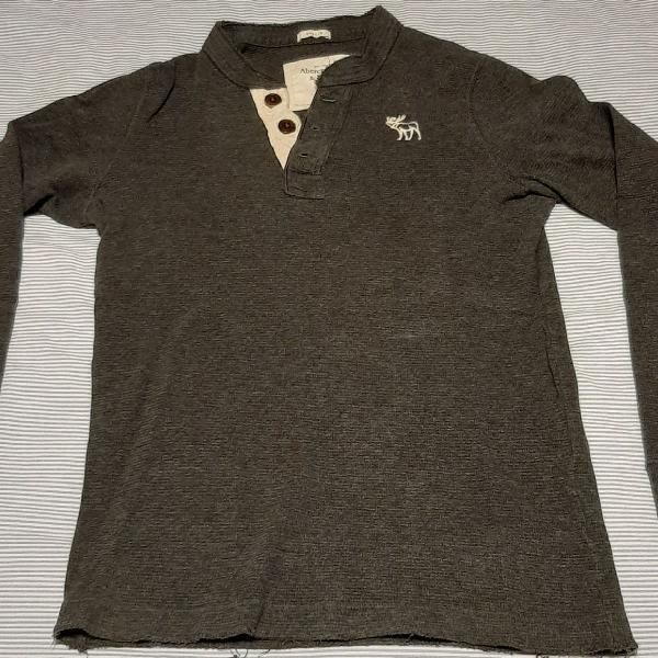 Camisa manga longa abercrombie cinza