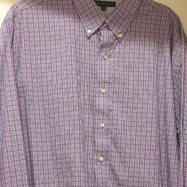 Camisa masculina manga longa tommy hilfiger original