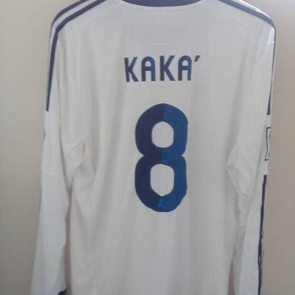 Camisa real madrid do kaka - manga longa