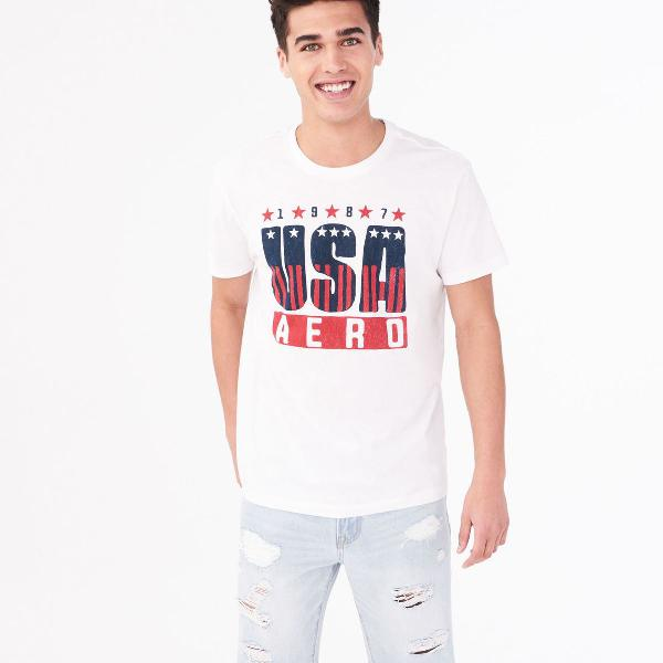 Camiseta aeropostale gráfico dos eua