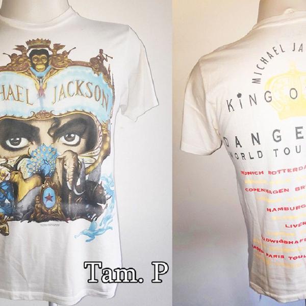 Camiseta blusa oficial michael jackson show dangerous tour