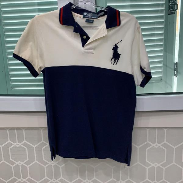 Camiseta masculina manga curta tamanho m marca ralph lauren