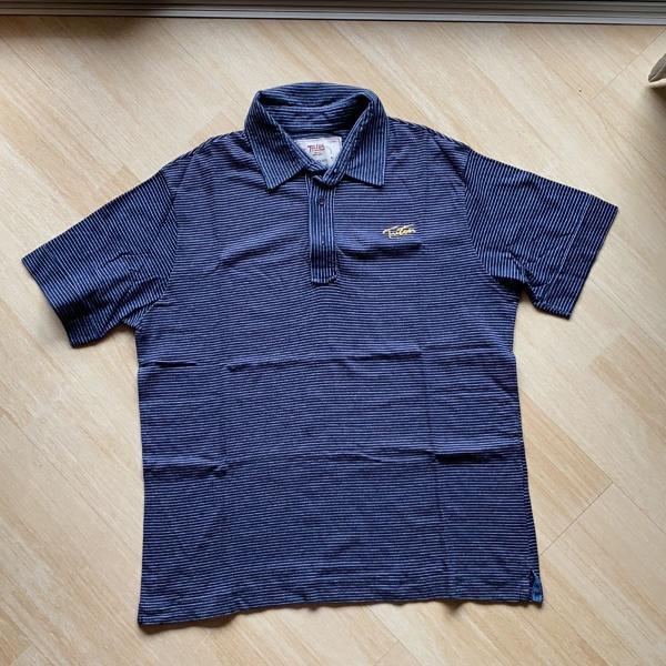 Camiseta polo azul listrada triton