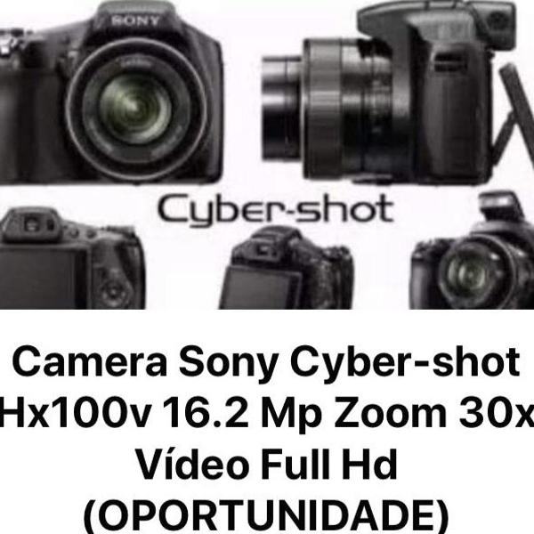 Câmera sony cyber shot hx100 16.2 super zoom 30x video full