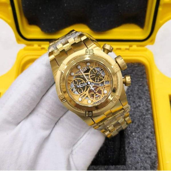 Relógio invicta - zeus bolt skeleton linha aaa+