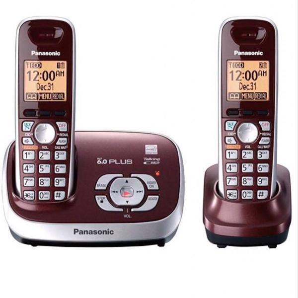 Telefone sem fio panasonic 2 bases