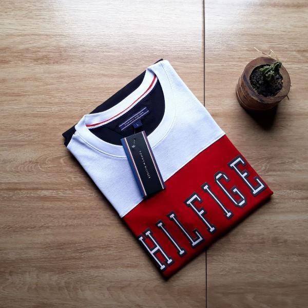 Tommy hilfiger sport camiseta masculina vermelha com