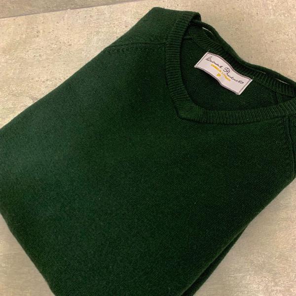 Tricot masculino verde escuro