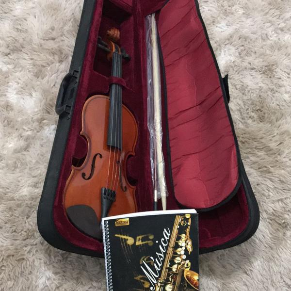 Violino com estojo completo