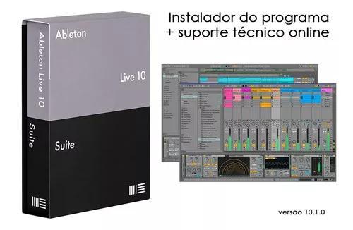 Ableton live 10 - instalador do programa + suporte online.