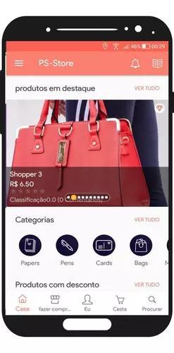 Aplicativo loja virtual moderna responsiva e app