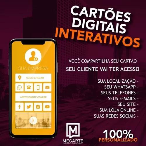 Cartão de visita digital - 100% personalizado