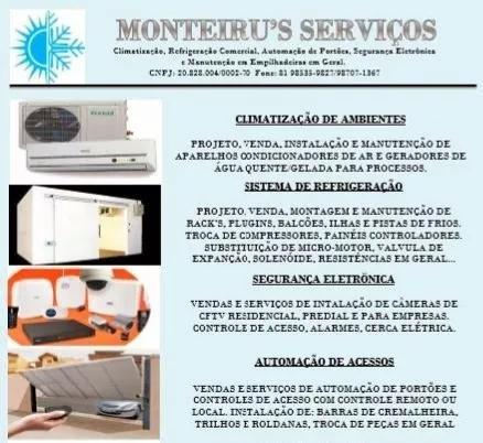 Climatização, refrigeração e seg.eletrônica: