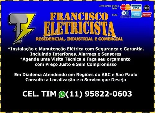 Francisco eletricista geral, residencial, industrial e obras