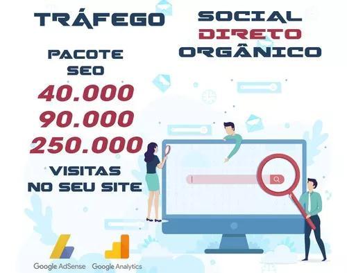 Pacote seo de até 250 mil visitas no seu site