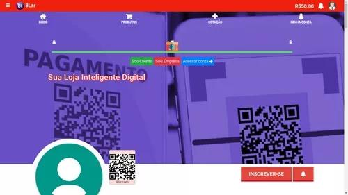Plataforma web loja inteligente digital