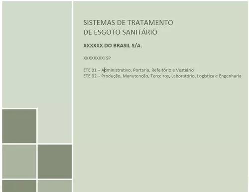 Projeto tratamento de esgoto (fossa séptica conf. nbr 7229)