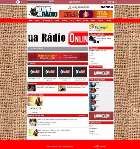 Site administrável rádio web am fm+streaming+instalação