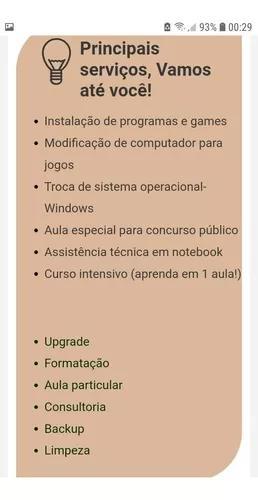 Técnico informática manutenção aulas