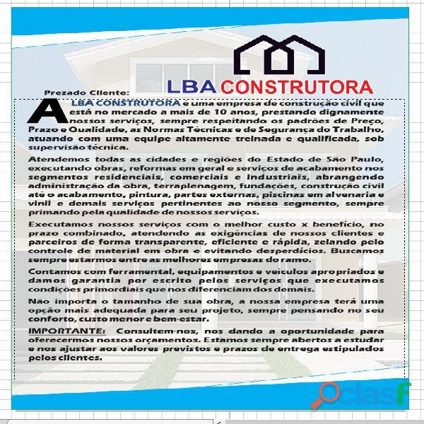 Obras e Reformas   LBA Construtora   Empreiteira 9