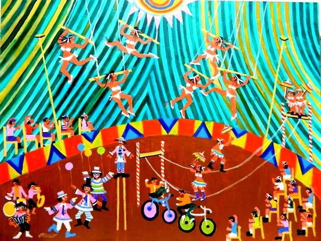 Aecio tema circo do povo medida 60x80 a venda com ajur sp