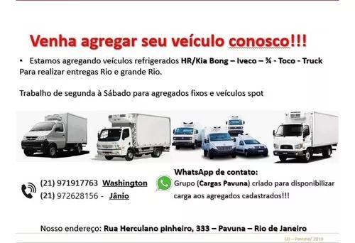 Agregamento de caminhões *refrigerados*
