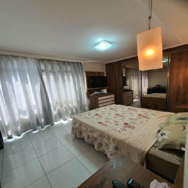 Apartamento 3 dormitórios gonzaga frente ao mar (mobiliado)