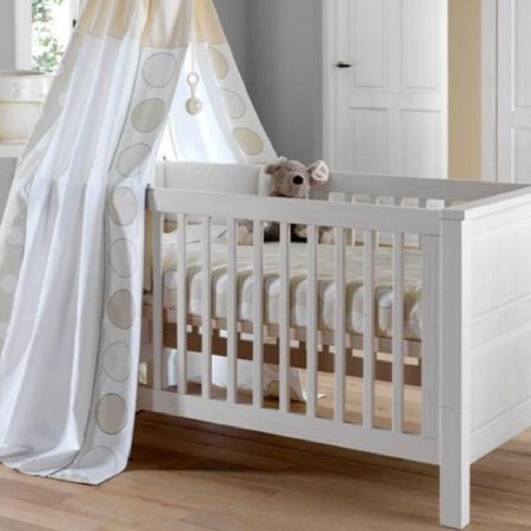 Berço cama larissa - madeira maciça + colchão - tulipa