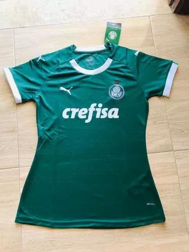 Camisa time palmeiras, baby look, tamanho g, verde !!