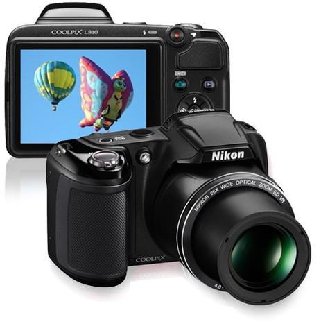 Câmera digital nikon coolpix l810 preta com 16.1mp