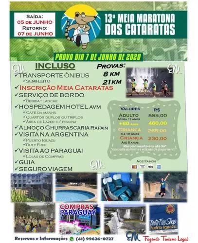 Excursão meia maratona cataratas-foz do iguaçu