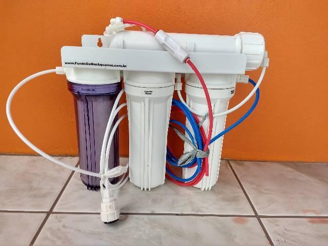 Filtro osmose reversa+deionizador 100gpd 380l/por dia