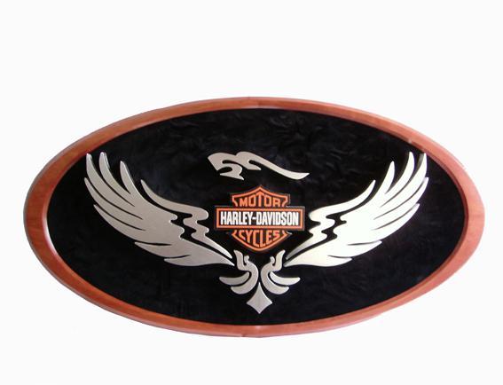 Harley davidson 'eagle' cadastre em relevo