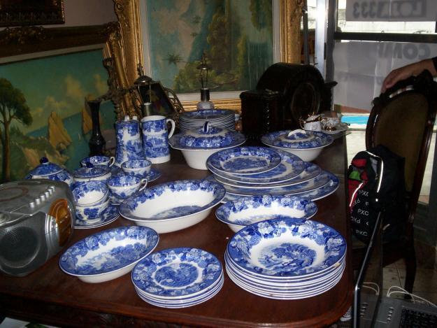 Jogo de jantar inglês de porcelana antigo