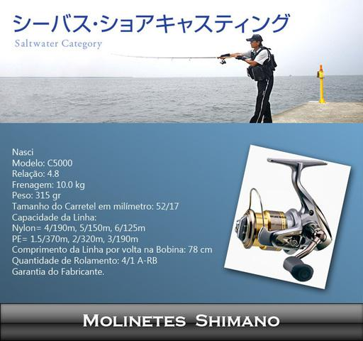 Molinete shimano nasci c5000