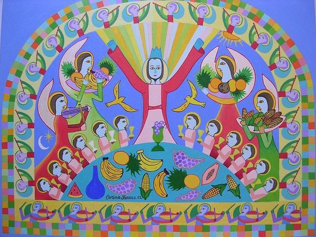 Obras da artista naif corina ferraz a venda com ajur sp