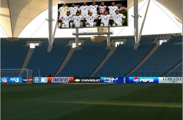 Painéis eletrônicos de leds para estádio de futebol