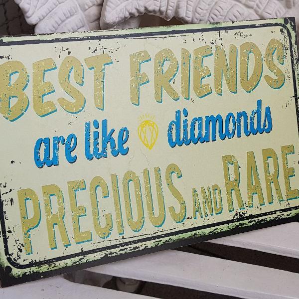 Placa mdf best friends are like diamonds