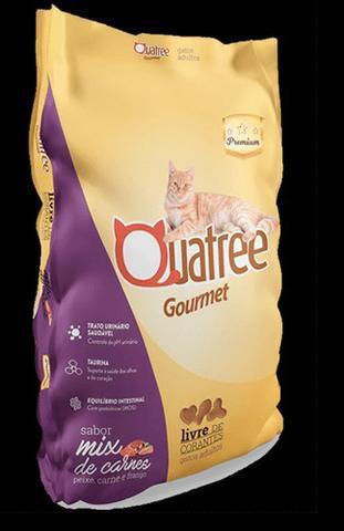 Ração quatree gourmet gatos adultos mix de carnes 10,1 kg