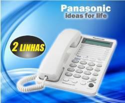 Telefone para 2 linhas - panasonic - conferencia e
