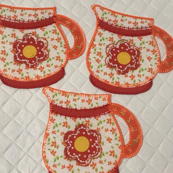 Bordado termocolante jarra patch